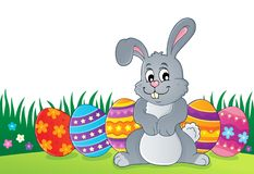 Easter rabbit thematics 1. Eps10 vector illustration Stock Photos