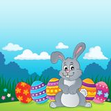 Easter rabbit thematics 2. Eps10 vector illustration Stock Images