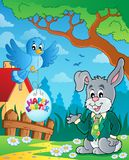 Easter rabbit theme image 3. Eps10 vector illustration Stock Images