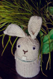 Easter rabbit white made a gift of handmade Stock Photography