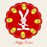 Easter Rabbit With Easter Eggs Royalty Free Stock Photo