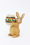 Easter Rabbit With Egg Of Clay Royalty Free Stock Photo