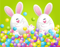 Easter rabbits in candies Royalty Free Stock Photography