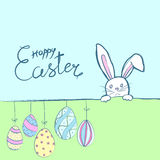 Easter rabbits card Stock Photo