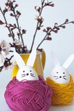 Easter rabbits for decoration Royalty Free Stock Photo