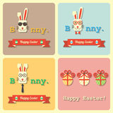 Easter rabbits and eggs Royalty Free Stock Images