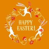 Easter rabbits illustration Stock Photo