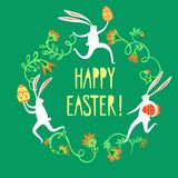 Easter rabbits illustration Royalty Free Stock Image