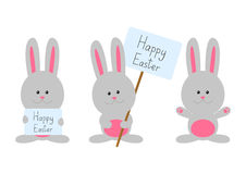 Easter rabbits isolated Stock Image