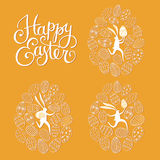 Easter rabbits postcards Stock Photography
