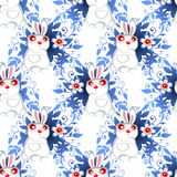 Easter rabbits seamless pattern Royalty Free Stock Images