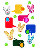 Easter Rabbits Talking Stock Images