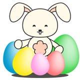Easter Rabit Bunny Egg Hunt Illustration Stock Image