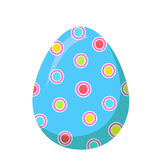 Easter Red Egg with Colorful Dot Vector Decoration Royalty Free Stock Photography