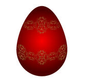 Easter red egg Royalty Free Stock Photos