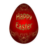 Easter red egg Royalty Free Stock Images
