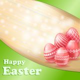Easter red eggs card Stock Image