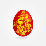 Easter red and gold eggs design Royalty Free Stock Photo