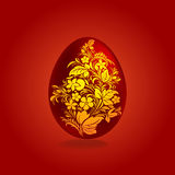 Easter red and gold eggs design Stock Image