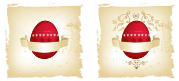 Easter red and gold grunge egg Stock Photo