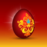 Easter red vector egg Royalty Free Stock Image
