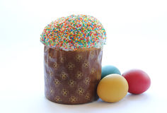 Easter- religious holiday. Easter cakes and easter eggs Stock Photography