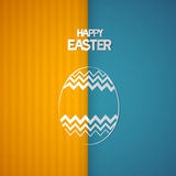 Easter Retro Background with Abstract egg Symbol. Orange, Blue Easter Retro Background with Abstract egg Symbol Royalty Free Stock Photography