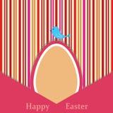 Easter retro card royalty free illustration