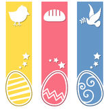 Easter Retro Eggs Vertical Banners Royalty Free Stock Image