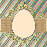 Easter retro frame Stock Photography