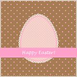 Easter retro greeting card Royalty Free Stock Photos
