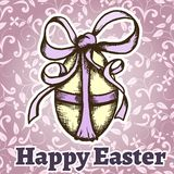 Easter retro hand drawn design card Royalty Free Stock Photo