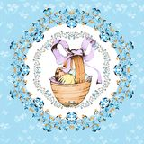 Easter retro hand drawn design card Royalty Free Stock Image