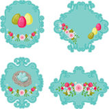 Easter retro labels. Stock Image