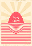 Easter retro poster Royalty Free Stock Photo
