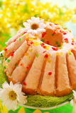 Easter ring cake with glaze Royalty Free Stock Photo