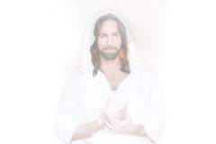 Easter Risen Hands on heart white Royalty Free Stock Images
