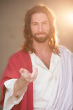 Easter Risen w Hand & Gentle Smile Stock Photos