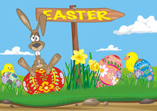 Easter  - road sign Royalty Free Stock Images