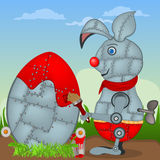 Easter robo-rabbit Royalty Free Stock Photo