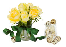 Easter roses posy Royalty Free Stock Images