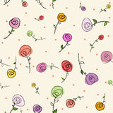 Easter roses seamless pattern Royalty Free Stock Photography