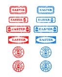 Easter rubber stamps - cdr format Stock Images