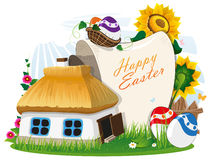 Easter rural background Stock Photos