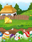 Easter rural landscape Stock Photo
