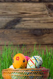Easter rustic background Royalty Free Stock Photography