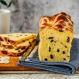 Easter Saffron Hot Cross Bun Loaf Stock Photo