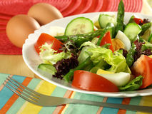 Easter salad with eggs Stock Photos