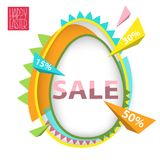 Easter Sale Abstract geometric background with egg in trendy sty. Le. Stock vector Stock Photos