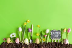 Easter sale background Stock Images